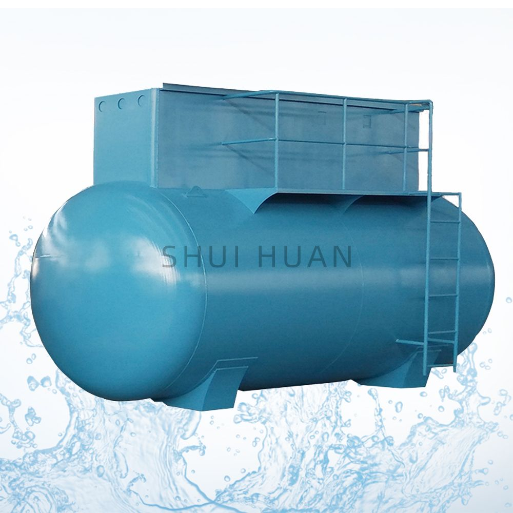 MBR Integrated Municipal Containerized 100m3 Package Wastewater System Plant Domestic Equipment Sewage Treatment